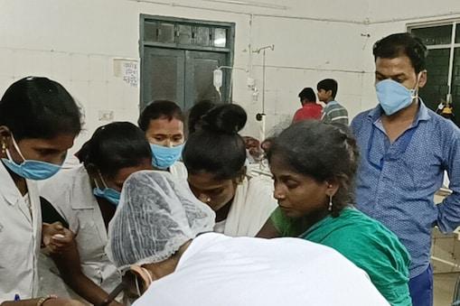 डायरिया के शिकार 6 बच्चों को सदर अस्पताल में इलाज चल रहा है.
