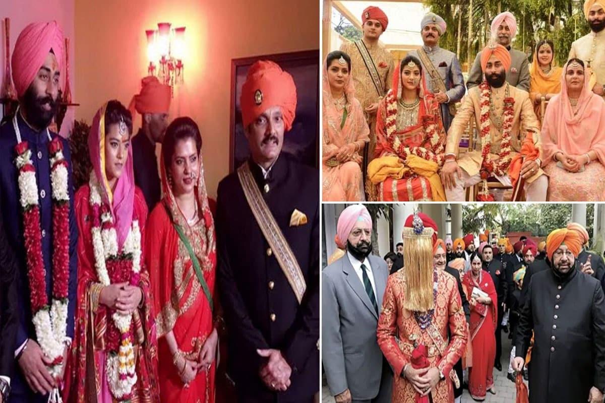बीजेपी के केंद्रीय मंत्री ज्योतिरादित्य सिंधिया (Jyotiraditya Scindia) और पंजाब के पूर्व मुख्यमंत्री अमरिंदर सिंह (Amarinder Singh) रिश्तेदार हैं. उनकी बहन चित्रांगदा की बेटी मृगांका की शादी अमरिंदर सिंह के पोते निर्वाण सिंह से हुई है. दोनों परिवारों में विवाह बंधन होने से दोनों के रिश्ते प्रगाढ़ हुए हैं. (File)