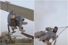 अमेरिकी सेना के जहाजों पर झूला झूल रहे हैं तालिबानी लड़ाके, Video वायरल