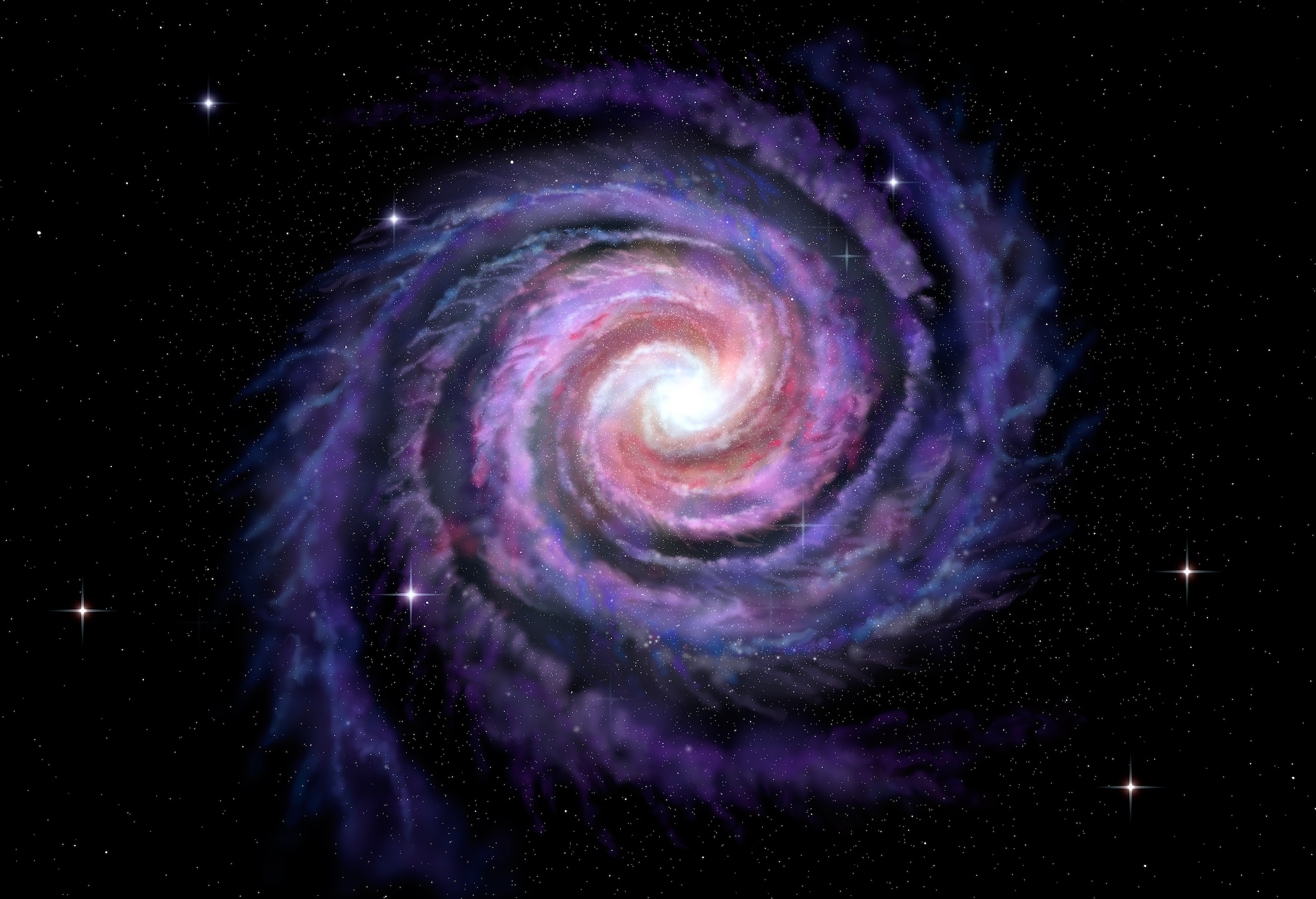 Space, Milky Way, Galaxy, Galaxies Flybys, Spiral Arms, Bulges of Galaxy,