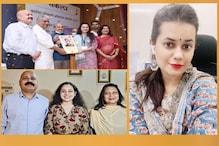 रिया को केन्द्रीय मंत्री यादव से मिला सम्मान, IAS टीना डाबी ने शेयर की खुशी