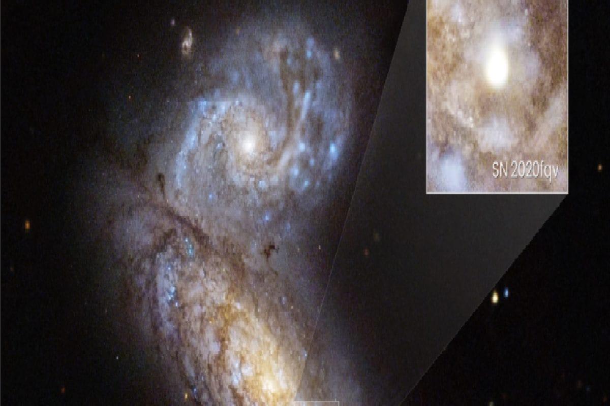 धरती से 60 मिलियन प्रकाश वर्ष की दूरी पर तारे में हुआ विस्फोट, ऐसा दिखा सुपरनोवा