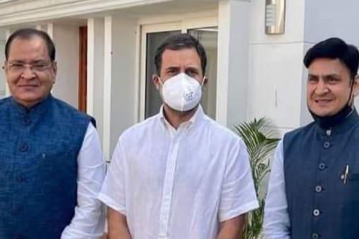 राहुल गांधी के साथ यशपाल आर्य और संजीव आर्य.