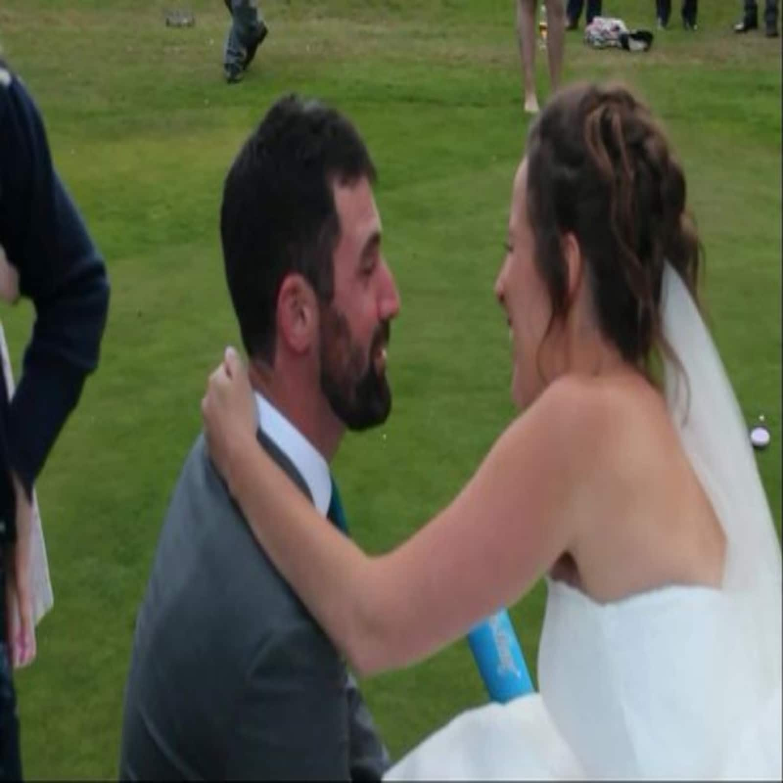 groom hit by balls on private part