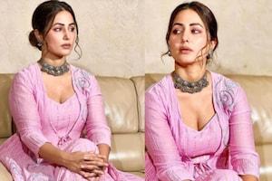 हिना खान का पर्पल ड्रेस में दिखा ट्रेडिशनल अवतार, फैंस बोले- 'बेहद खूबसूरत', देखें PICS