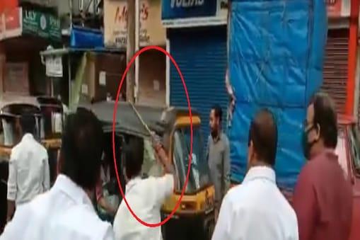 महाराष्ट्र बंद के दौरान शिवसैनिकों ने की हिंसा (Video Grab)