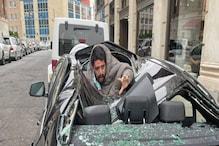 9वीं मंजिल से छलांग लगा BMW पर किया लैंड, करोड़ों की गाड़ी का कर दिया ऐसा हाल