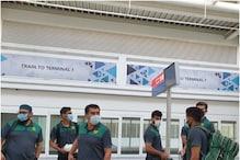 आईपीएल का फाइनल देखने पाकिस्तान की टीम दुबई पहुंची! 24 को वर्ल्ड कप का मैच