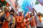 BJP Workers Celebrate NDA's Lead in Lok Sabha Elections 2019