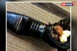 Watch: Japanese PM Shinzo Abe Served Dessert In A Shoe At Netanyahu Dinner