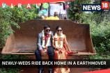 In an Unique Scenario, Groom Took Bride Home in A Earthmover