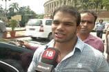 Wrestler Narsingh Yadav Meets PM Narendra Modi