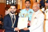 Virat Kohli Receives the Prestigious Khel Ratna Award