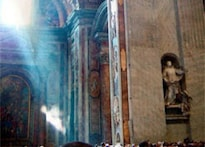 'Ghost figure' seen flying over Pope