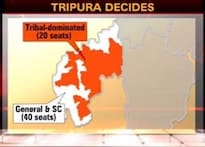 Red march in Tripura, hung House in Meghalaya