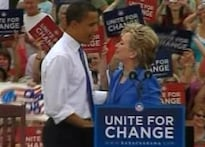 Mending fences: Obama, Hillary share public stage