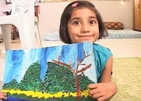 Young at art: At 6, Arushi has painted 3,000 canvases