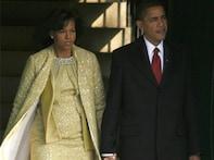 Obamas' big day: Michelle wears avant garde