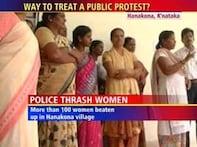 Women protestors brutally beaten by Karnataka cops