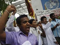 Angry protestors storm into UN office in Colombo