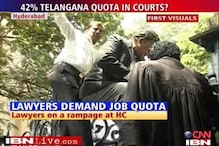 Andhra lawyers demand quota, go on a rampage