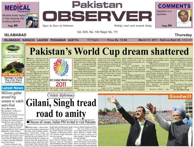 After the defeat: Front pages of Pak papers - Photogallery