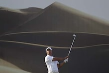 Woods shoots 69, in contention in Abu Dhabi