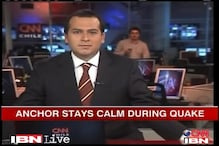 Watch: TV anchor stays calm during earthquake