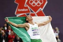 Algeria's Makhloufi wins 1,500m gold medal