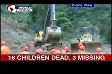 China: 18 school children buried in landslide dead