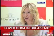 Sharapova shows her mystique and taste for 'dosa'