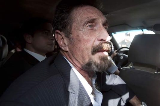 US software guru McAfee released, arrives in US