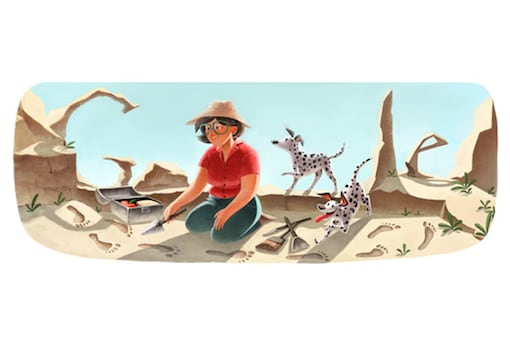 Google doodles Mary Leakey's 100th birthday