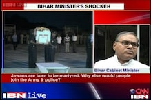Bihar minister says soldiers are meant to be martyrs, apologises