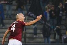 10-man Roma beat Udinese 1-0 to set record