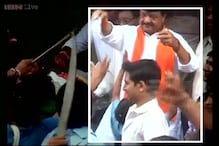 MP Minister Kailash seen distributing cash during campaigning