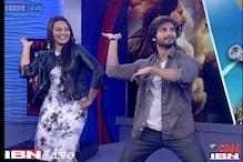 Shahid, Sonakshi shake a leg with CNN-IBN's Sushant Mehta