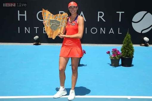 Garbine Muguruza wins 1st WTA singles tournament