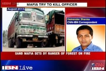 MP sand mafia allegedly tries to set Deputy Forest Ranger on fire