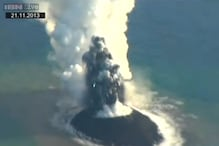 Volcanic eruption in Japan forms an island that looks like 'Snoopy'