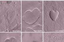 NASA spots volcanic 'heart' on Mars