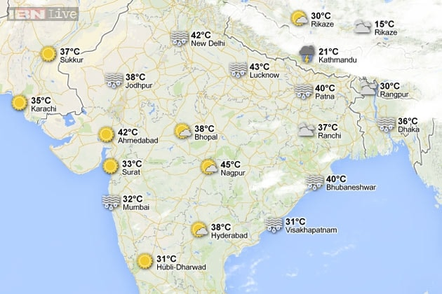 India Weather Map Scorching summer: Interactive weather map of India   News18 India Weather Map