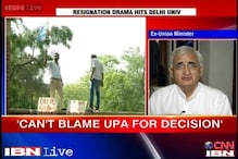 Can't blame UPA for uproar over 4-year course in DU: Salman Khurshid