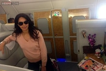 Snapshot: Mallika Sherawat tweets photo from her first class airplane suite