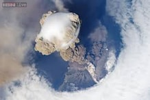 Watch: This video of a volcanic eruption from the International Space Station is something you may never see in this lifetime