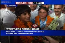 CWG 2014: Wrestlers come back home after successful campaign