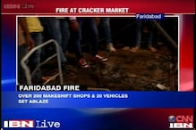 Faridabad: Cracker market goes up in flames