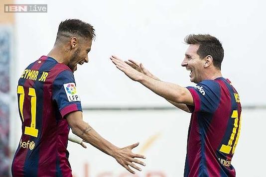 La Liga Neymar Lionel Messi Score As Barcelona Defeat Eibar 3 0