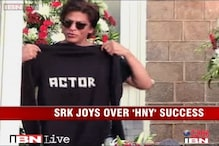 e Lounge: SRK celebrates his birthday and 'Happy New Year' Box Office success with fans