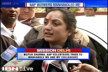 BJP candidate from New Delhi Nupur Sharma alleges AAP volunteers tried to manhandle her